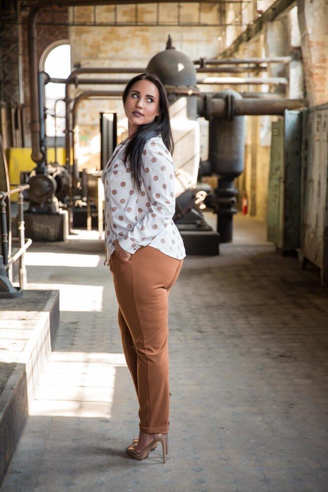 Koszula damska SANDY Plus Size ecru