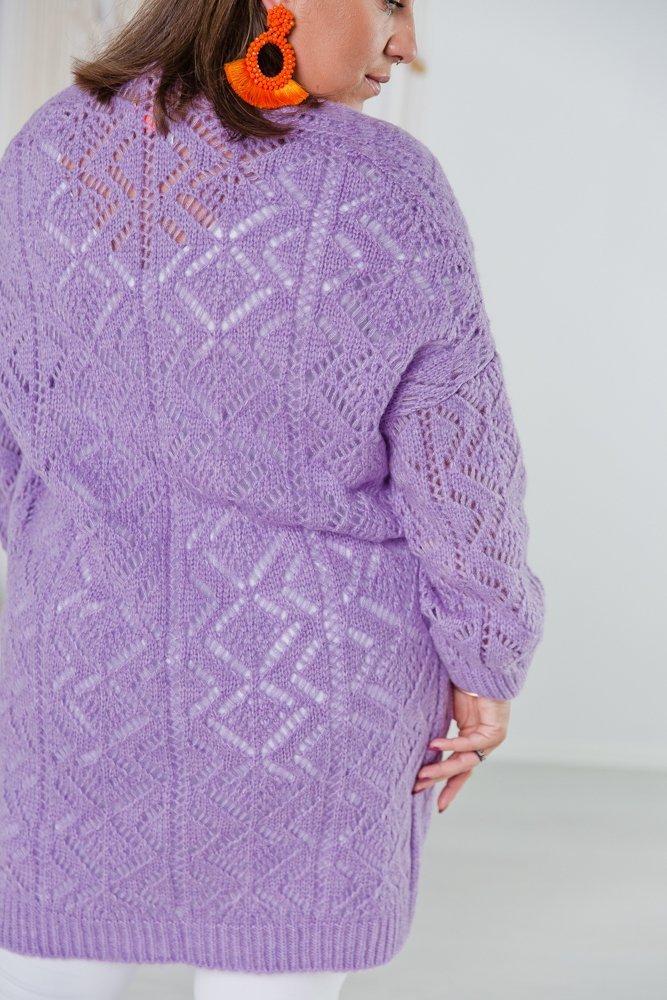 Liliowy Sweter BAROKO Plus Size