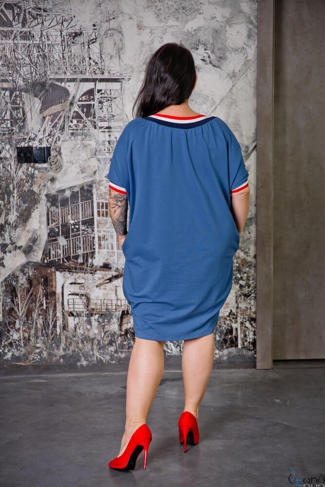Niebieska Sukienka SEPPI Plus Size