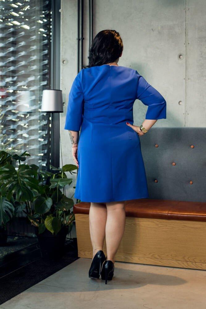 Niebieska Sukienka damska SEDIA Duże rozmiary
