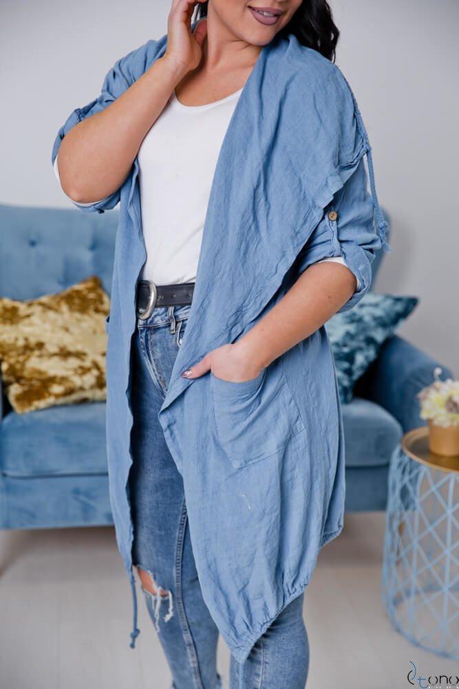 Niebieski Kardigan EROLA Plus Size