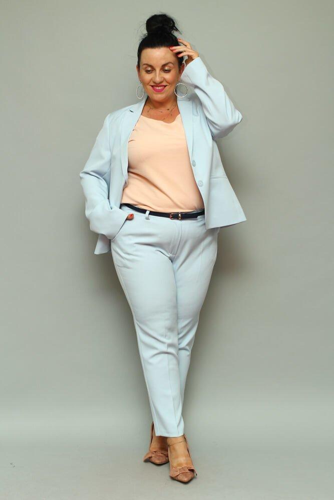Niebieskie Spodnie ESTELA Plus Size