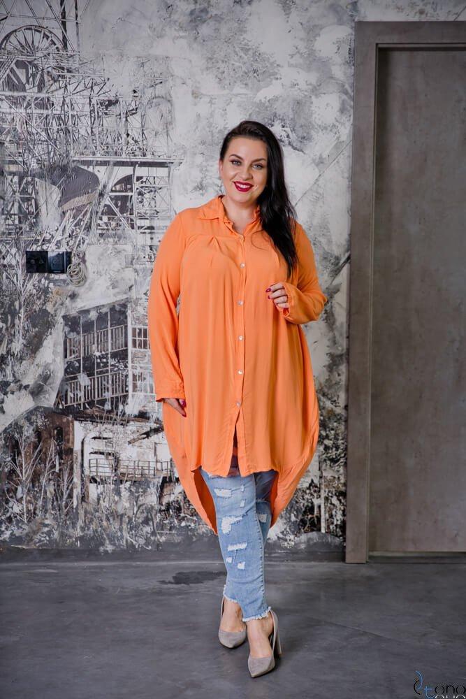 Pomarańczowa Koszula LUNGA Plus Size