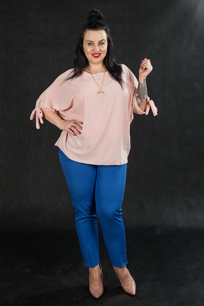 Różowa BOW bluzka oversize plus size