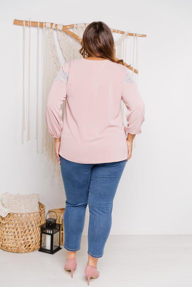 Różowa Bluzka Simma Plus Size