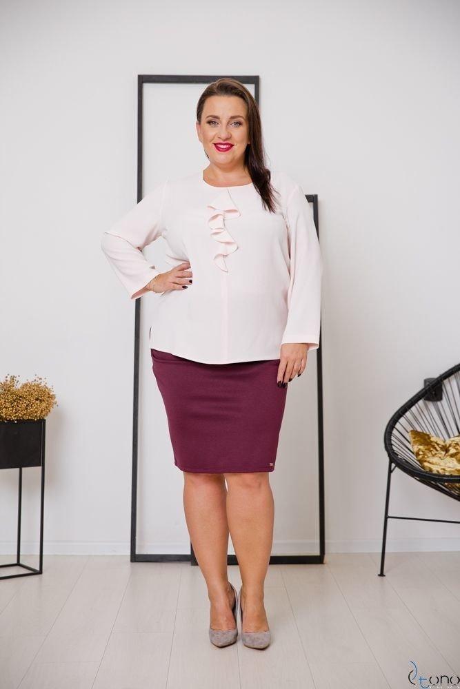 Różowa Bluzka VERTER Plus Size