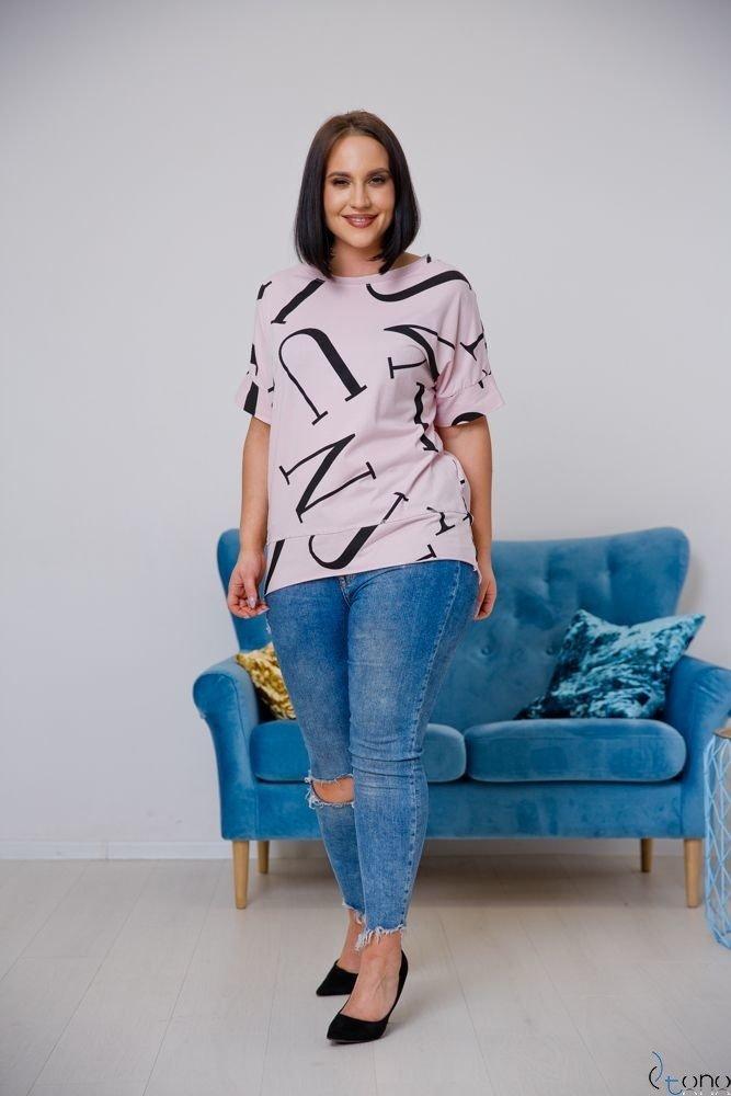 Różowa Bluzka VICTIVA Plus Size