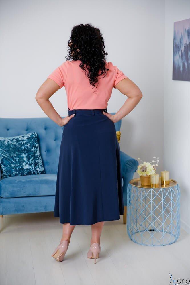 Różowa Bluzka damska DETRRA T-Shirt Plus Size