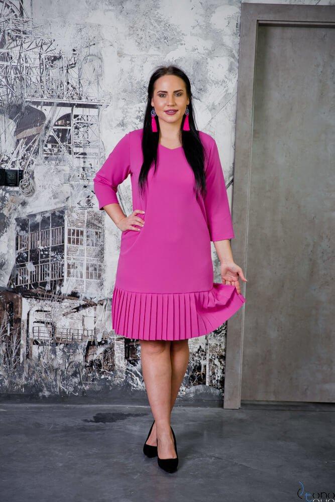 Różowa Sukienka CAMEA Plus Size