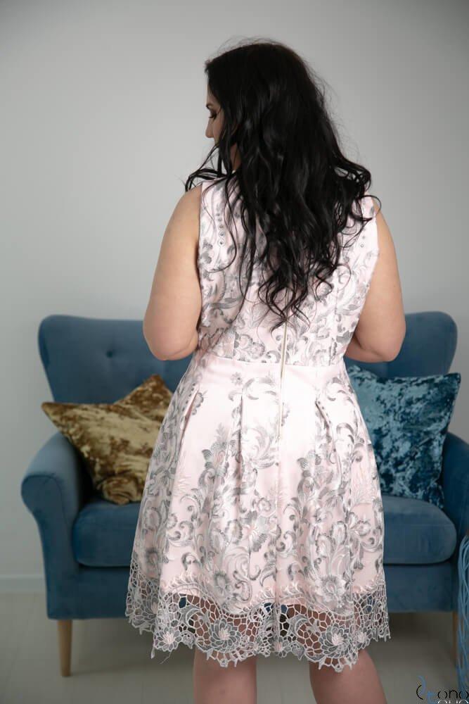 Różowa Sukienka GENIO Plus Size