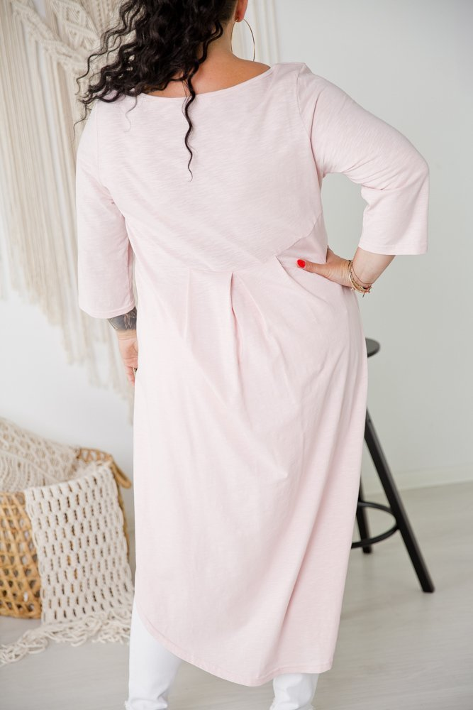 Różowa Tunika TAURUS Plus Size