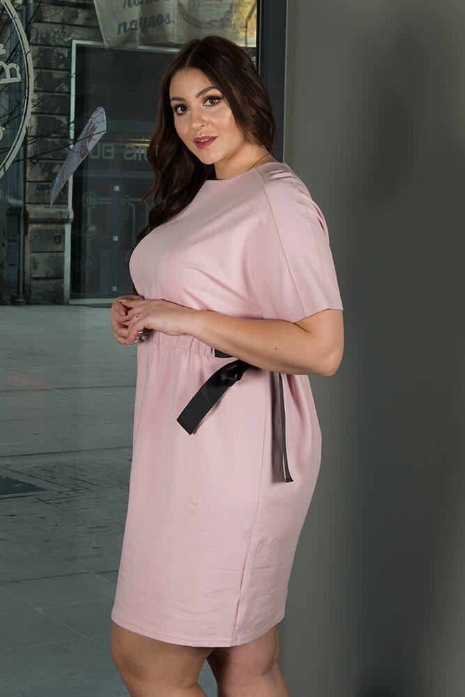 Różowa sukienka damska Marietta Size Plus