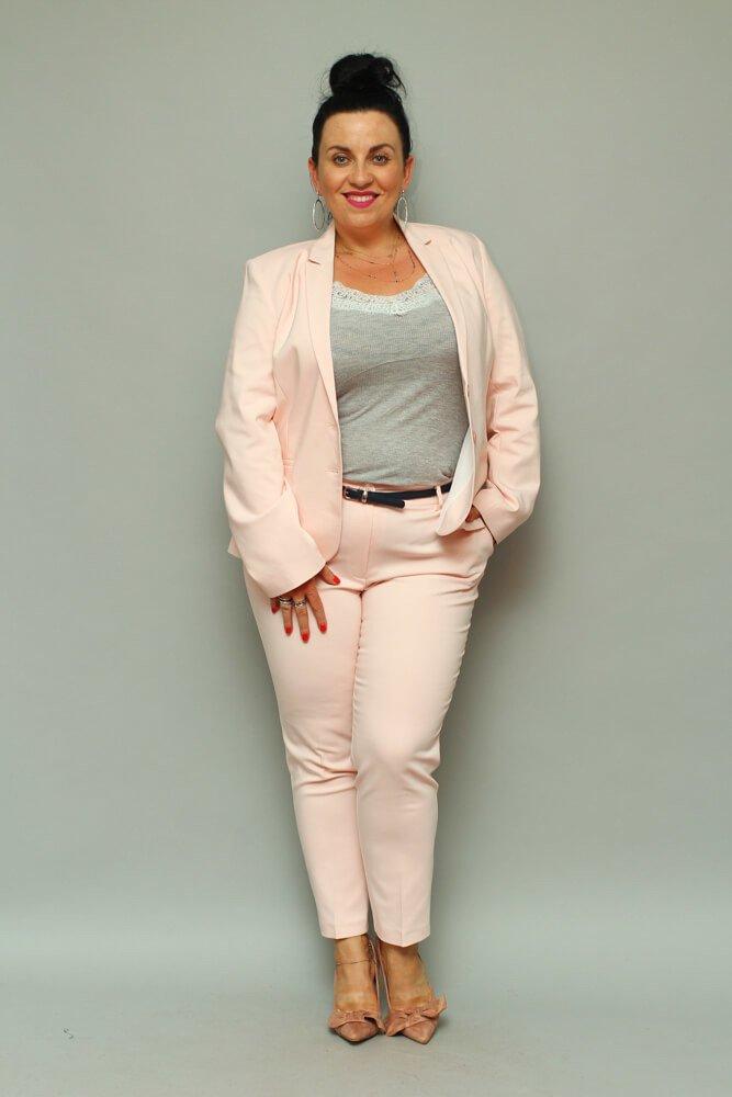 Różowe Spodnie ESTELA Plus Size