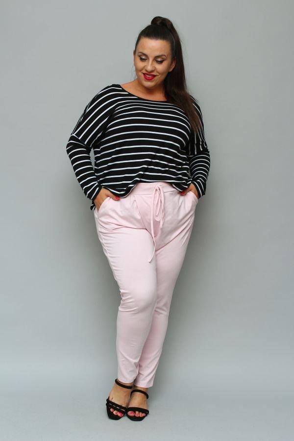 Różowe Spodnie LOTARIO Plus Size
