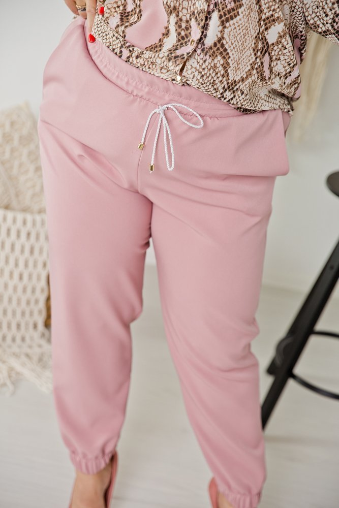 Różowe Spodnie SLEEK Plus Size