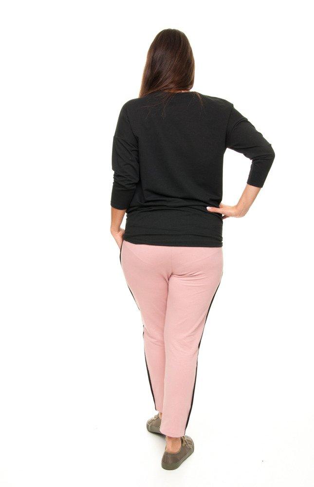 Spodnie AKUNA Lamówka Wygodne Rozciągliwe Plus Size