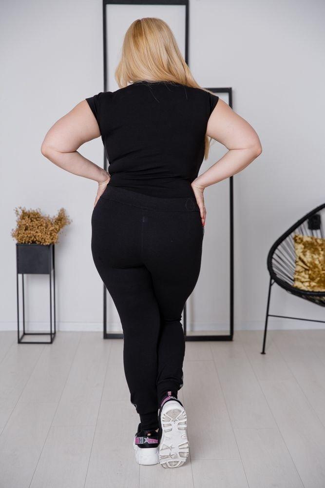 Spodnie LAMPASY Plus Size Wzór 3