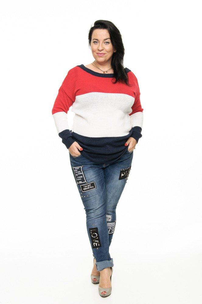 Spodnie STIKER Designerskie Elastyczne Duże Rozmiary