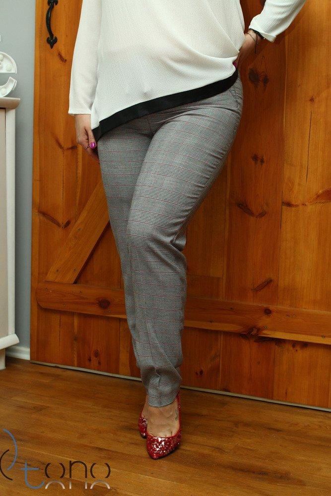 Spodnie damskie eleganckie RONDA Kratka Size Plus