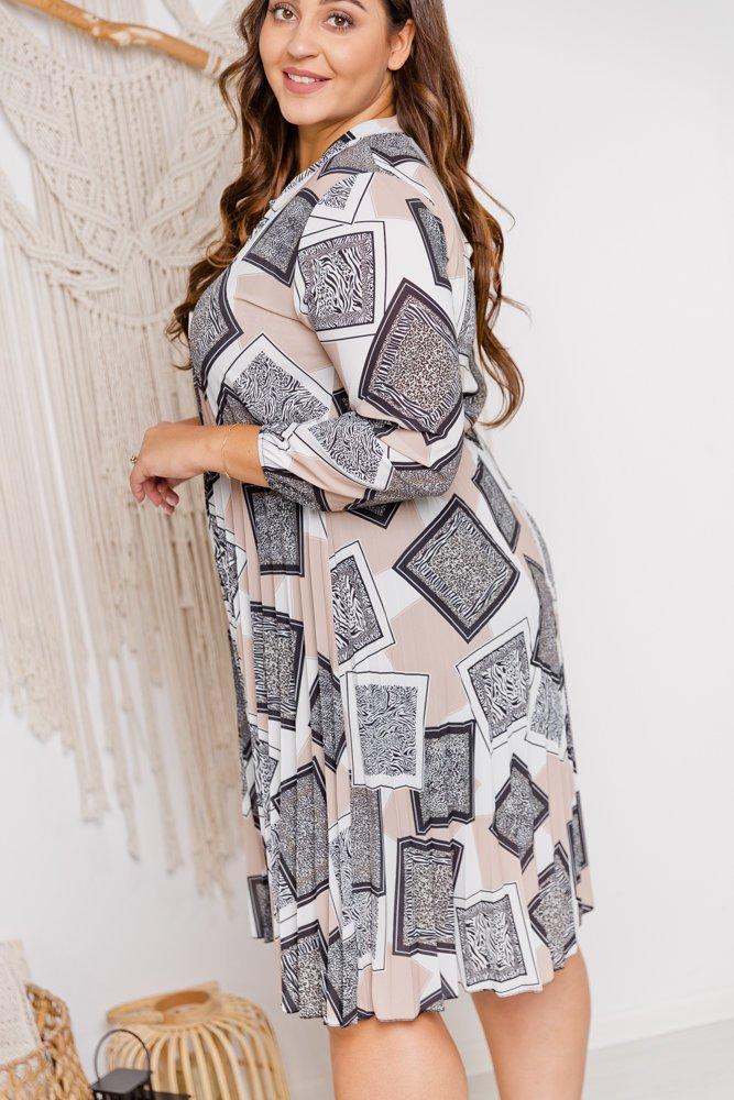 Sukienka FAMOS Plus Size wzór 1