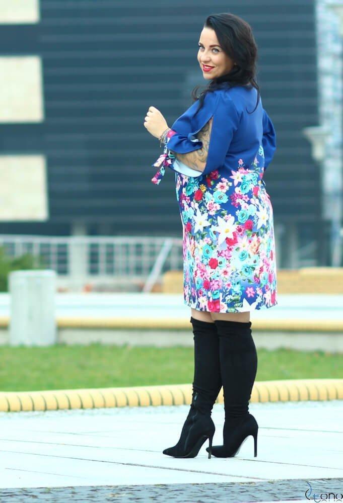 Sukienka GRACCIE Plus Size wzór 1