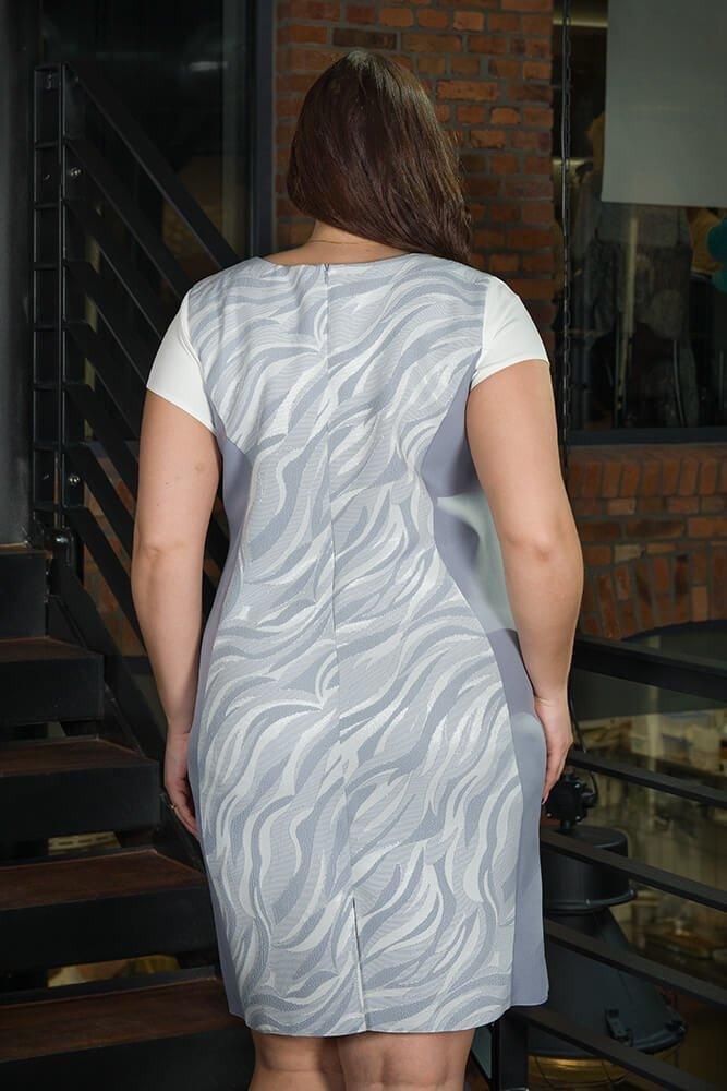 Sukienka Klepsydra FEBRA Duże rozmiary wzór 1