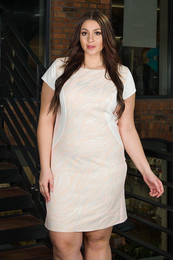 Sukienka Klepsydra FEBRA Duże rozmiary wzór 2