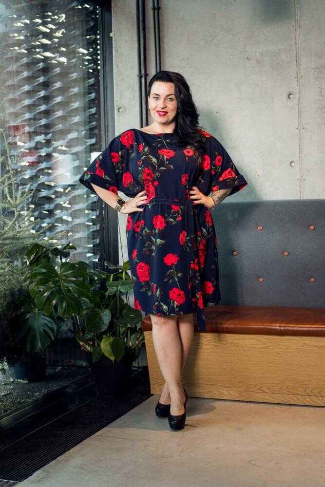 Sukienka NADOLA Hiszpanka Plus Size wzór 1