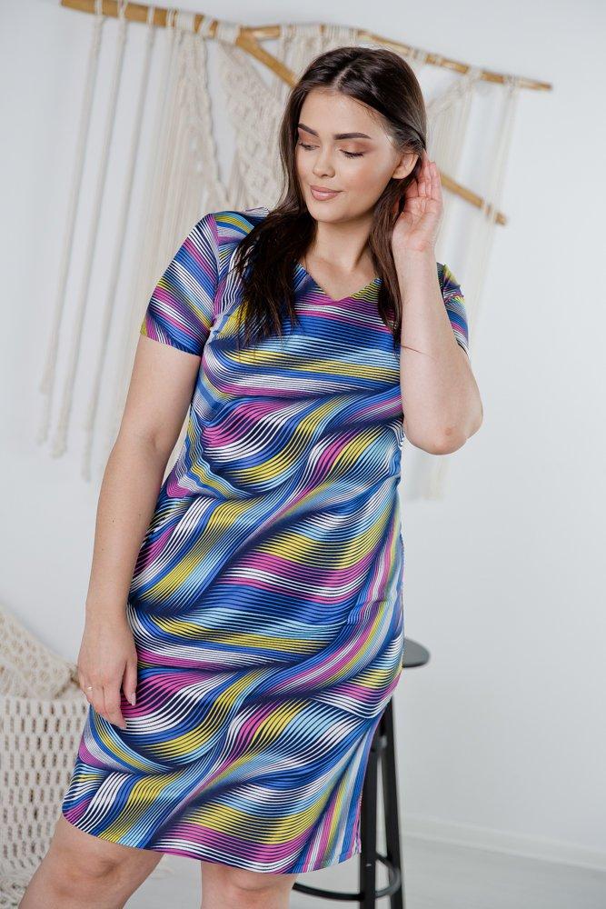 Sukienka STAMPINA Plus Size Wzór 37