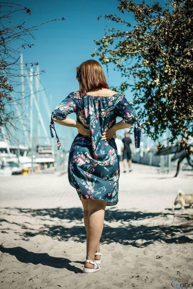Sukienka VALENCIA Hiszpanka Plus Size Wzór 7