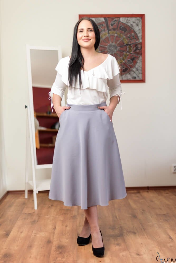 Szara Spódnica LAMES Plus Size