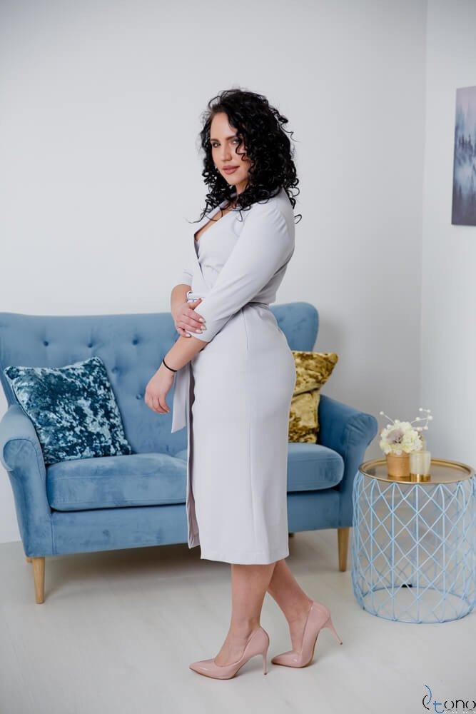 Szara Sukienka FERRERA Plus Size