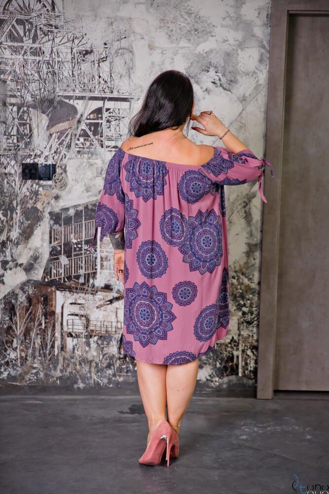 Wrzosowa Sukienka RAVENA Plus Size