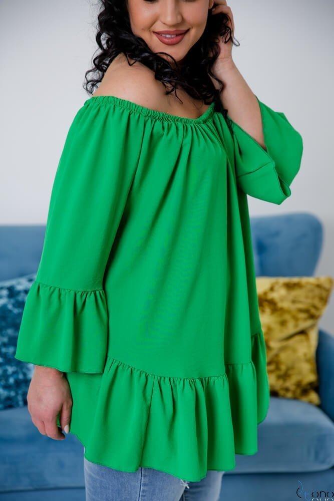 Zielona Bluzka CARLITA Plus Size