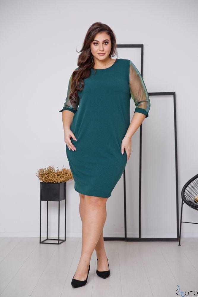 Zielona Sukienka DORYEN Plus Size