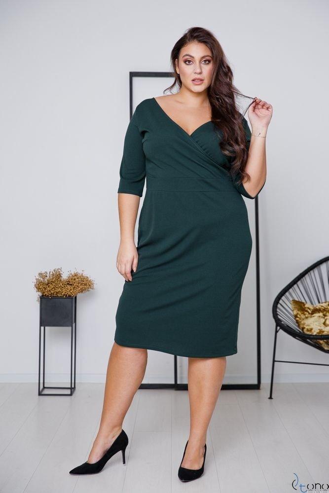 Zielona Sukienka GASPAR Plus Size