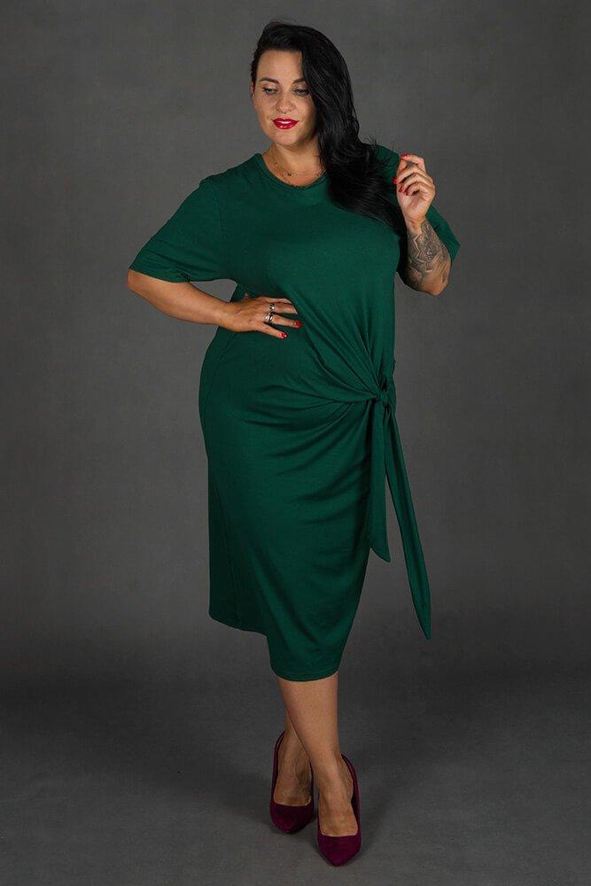 Zielona Sukienka GORDES Casual Plus Size