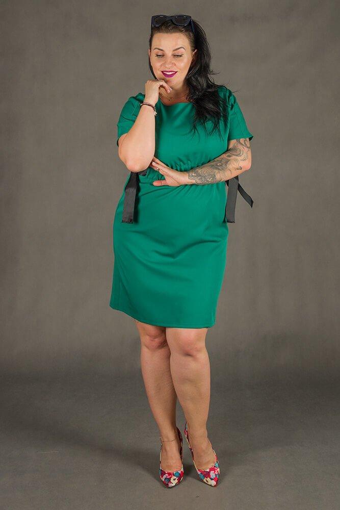 Zielona Sukienka MARIETTA Plus Size