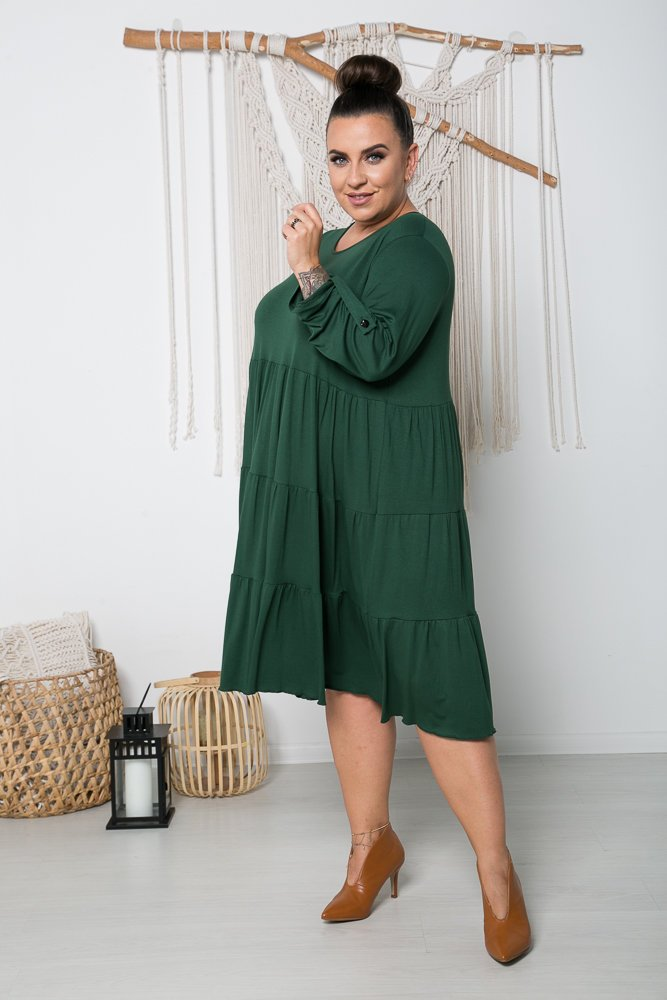 Zielona Sukienka MARSI Plus Size