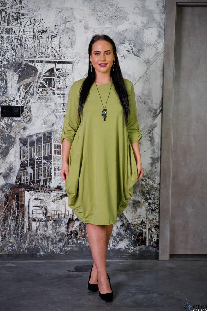 Zielona Sukienka SAYANA Plus Size