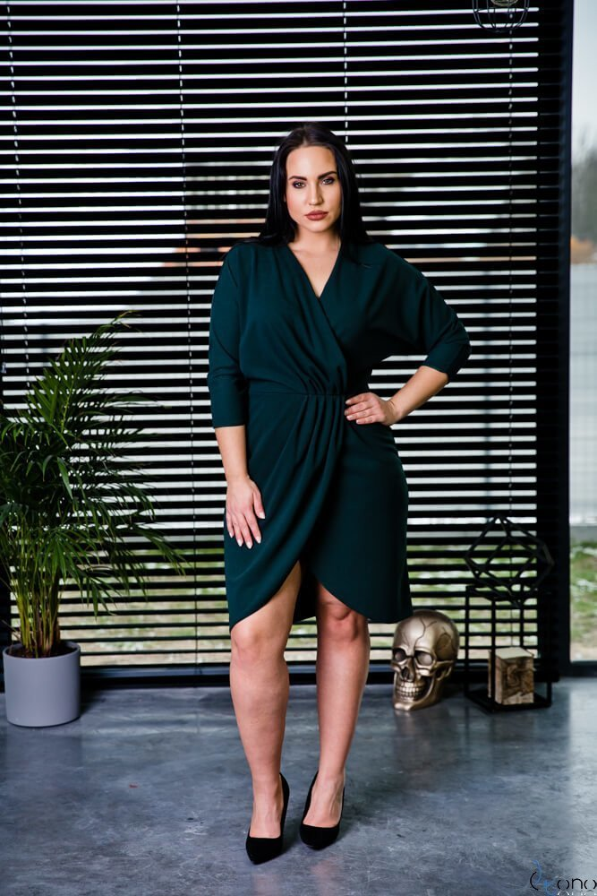 Zielona Sukienka SOFIJA Plus Size