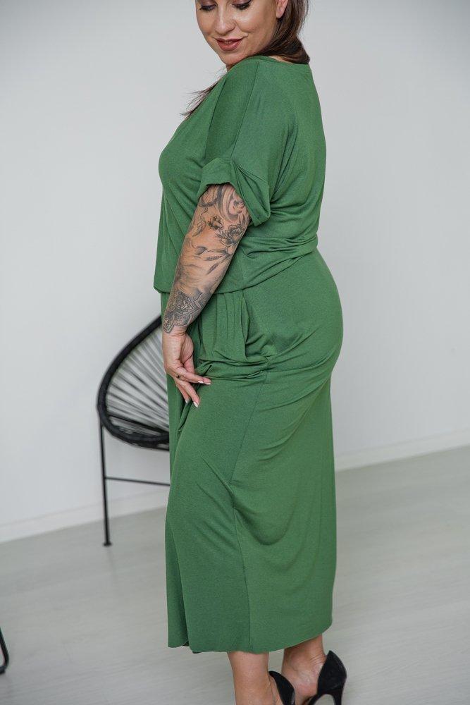 Zielona Sukienka TULIPA Plus Size