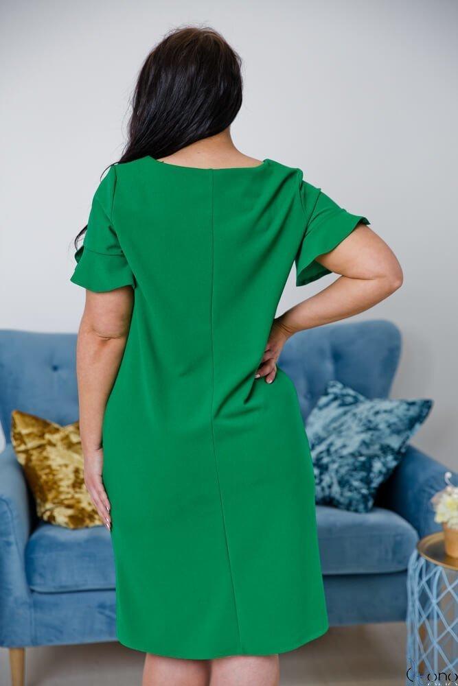 Zielona Sukienka VELMA Plus Size