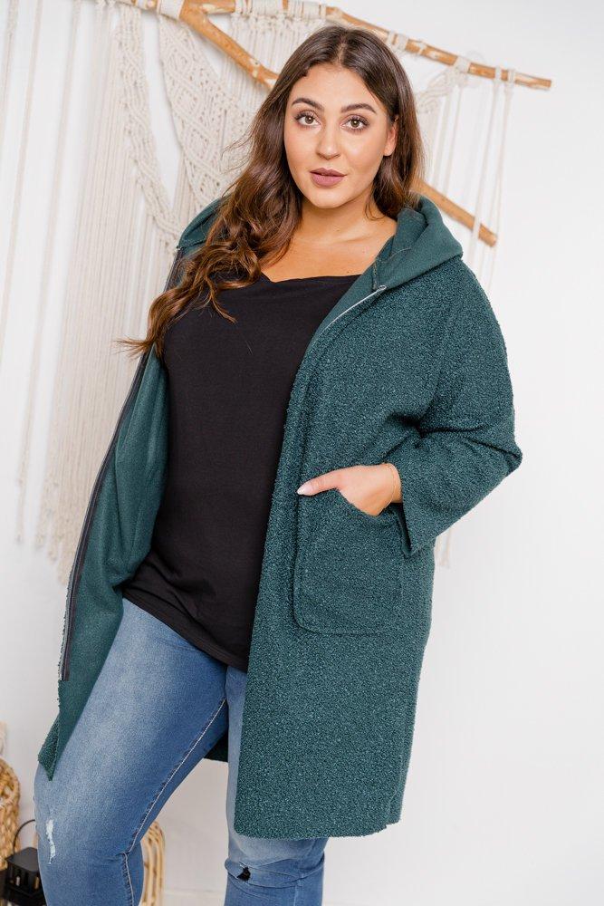Zielony płaszcz BERTIS Plus Size