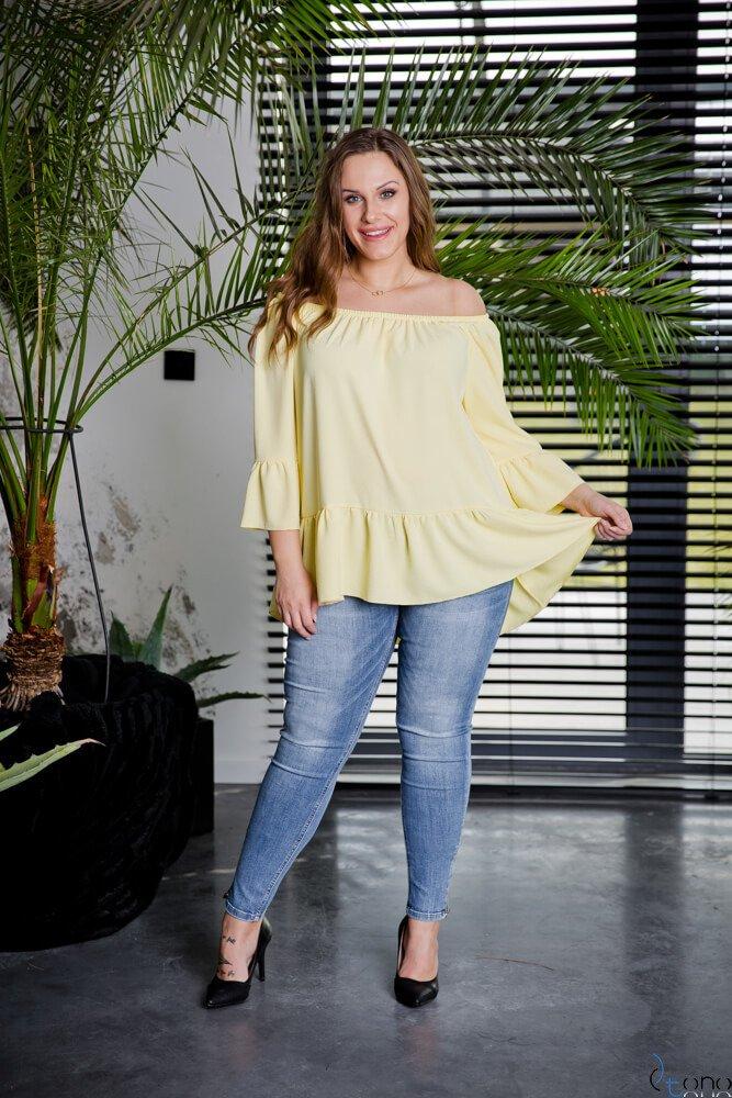 Żółta Bluzka CARLITA Plus Size