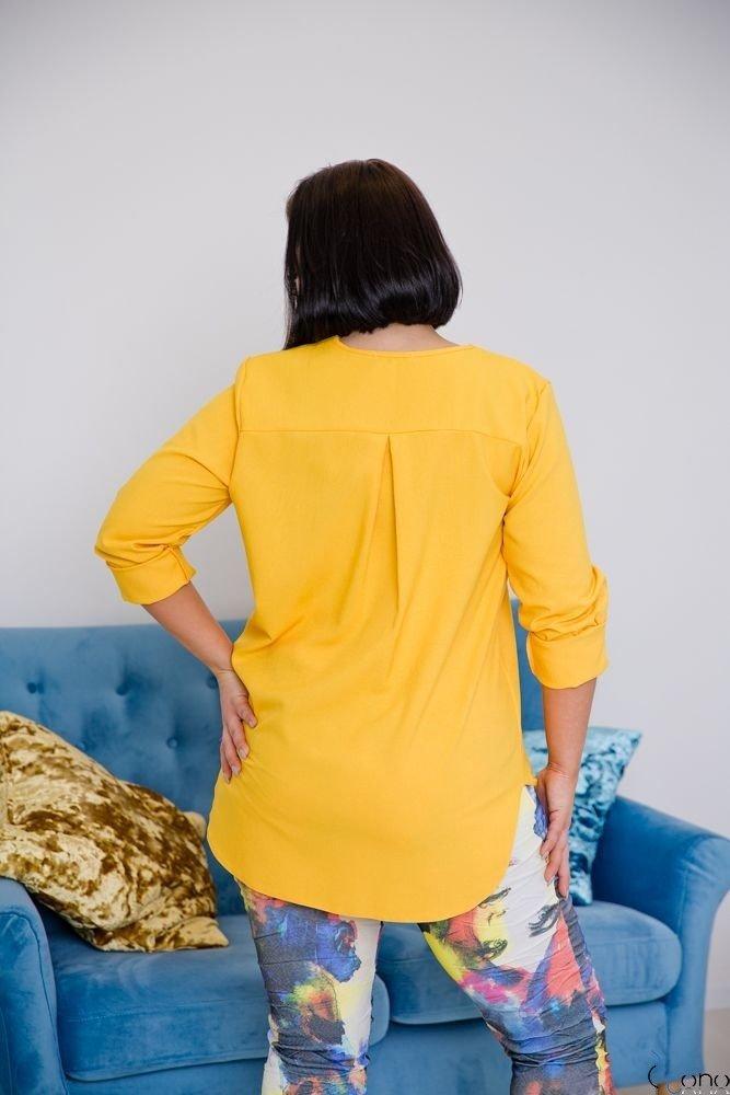 Żółta Bluzka JUSTIN Plus Size
