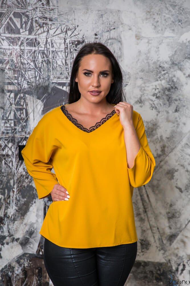 Żółta Bluzka STEPHI Plus Size