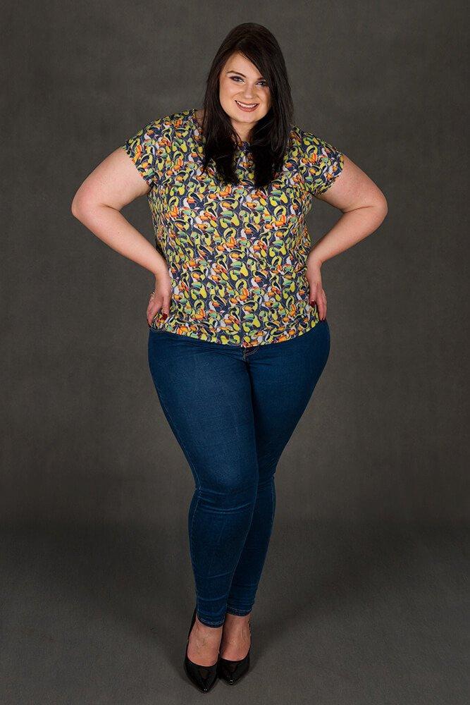 Żółta Bluzka damska duże rozmiary PETRONELA