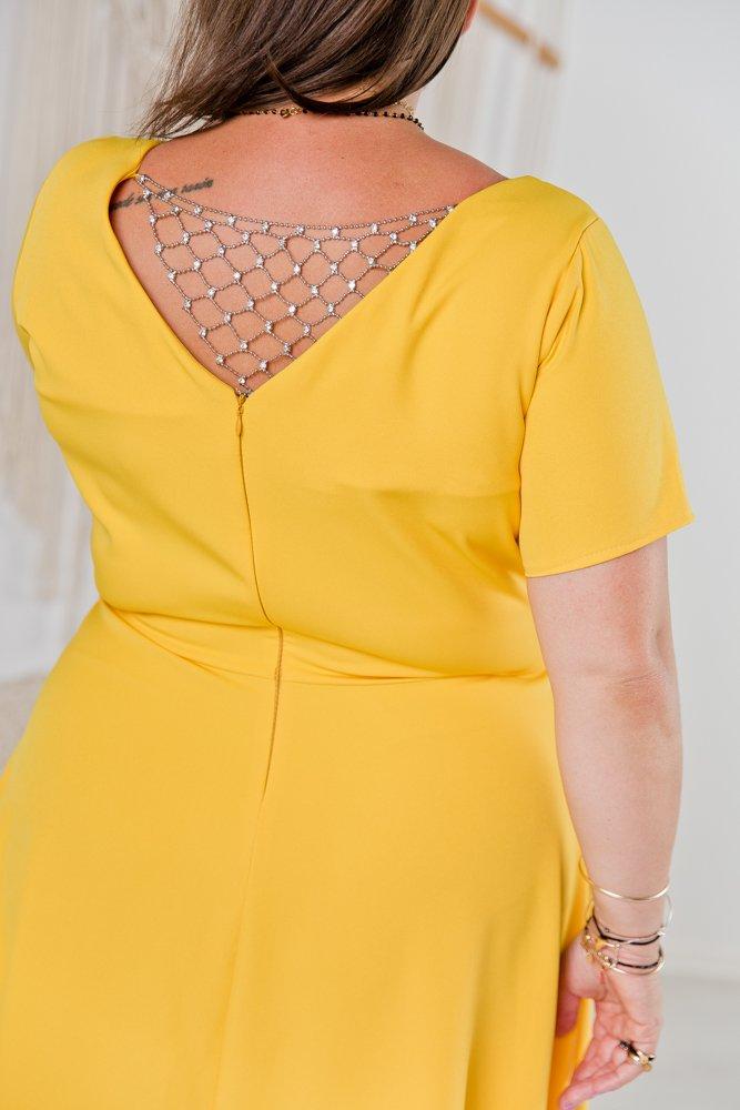 Żółta Sukienka CATENA Plus Size