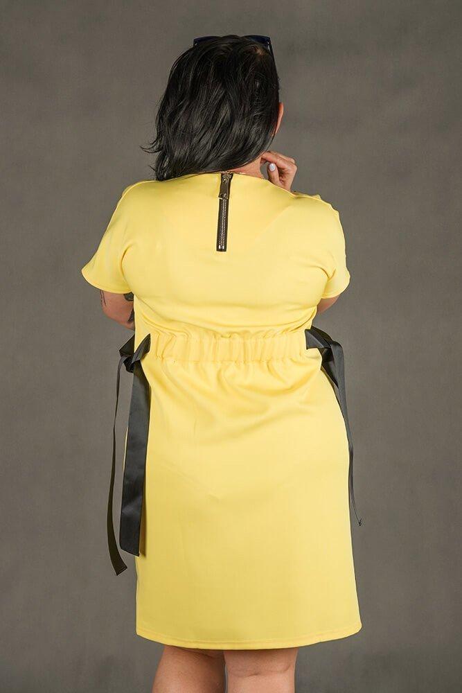 Żółta Sukienka MARIETTA Plus Size